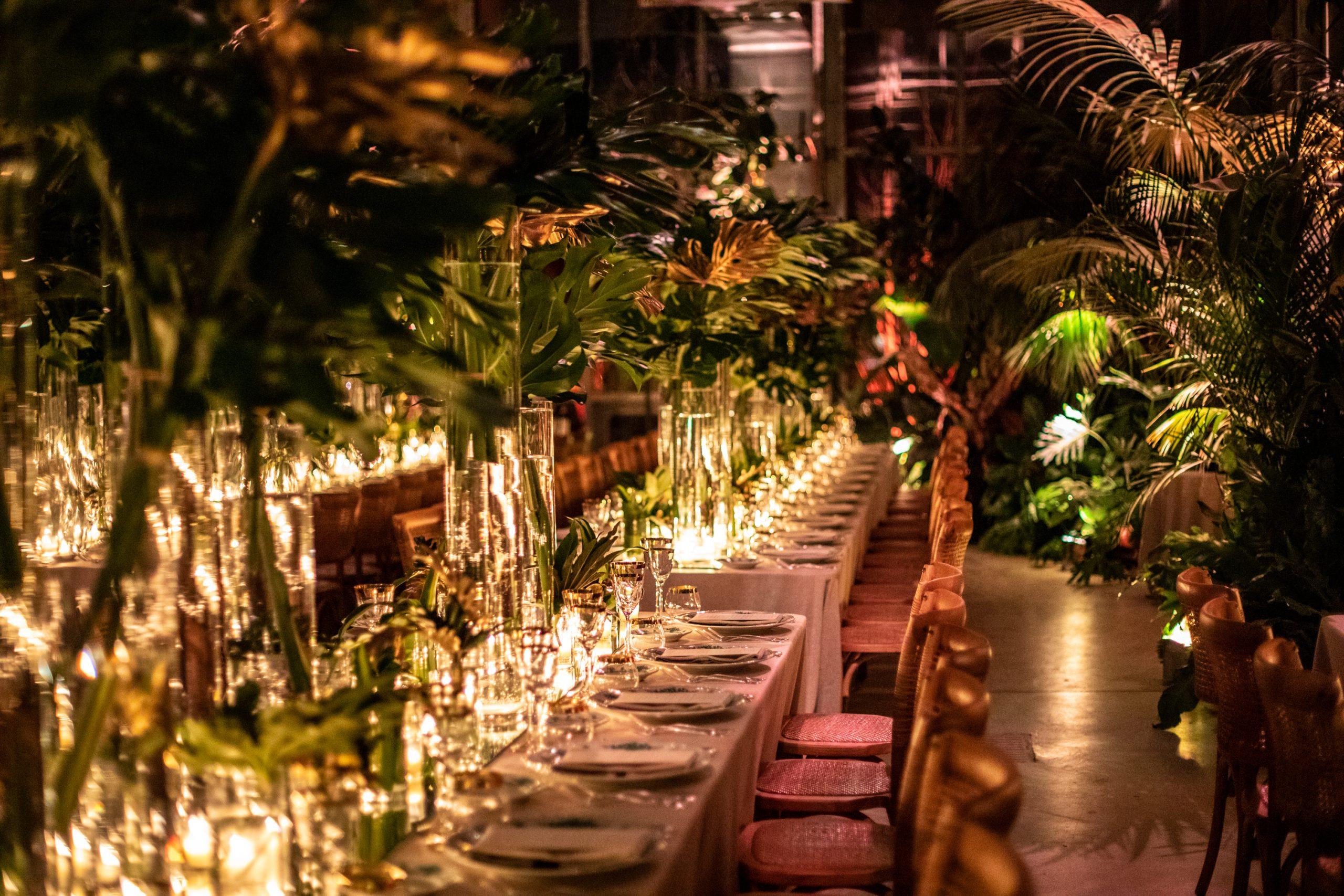 Wonderful wedding in a greenhouse
