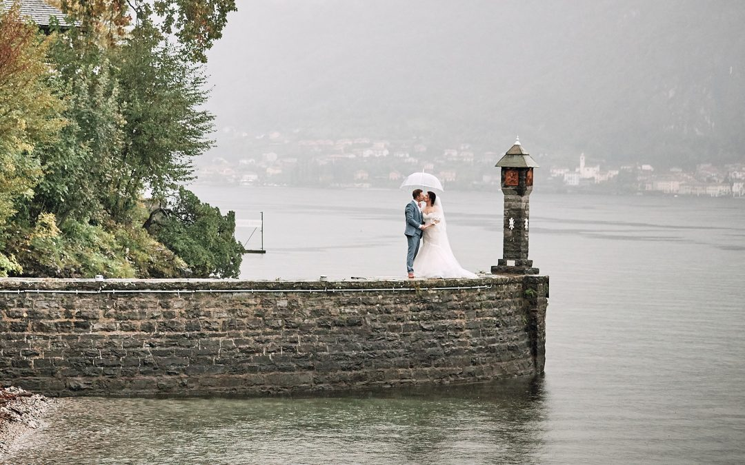 Lovely wedding under the rain