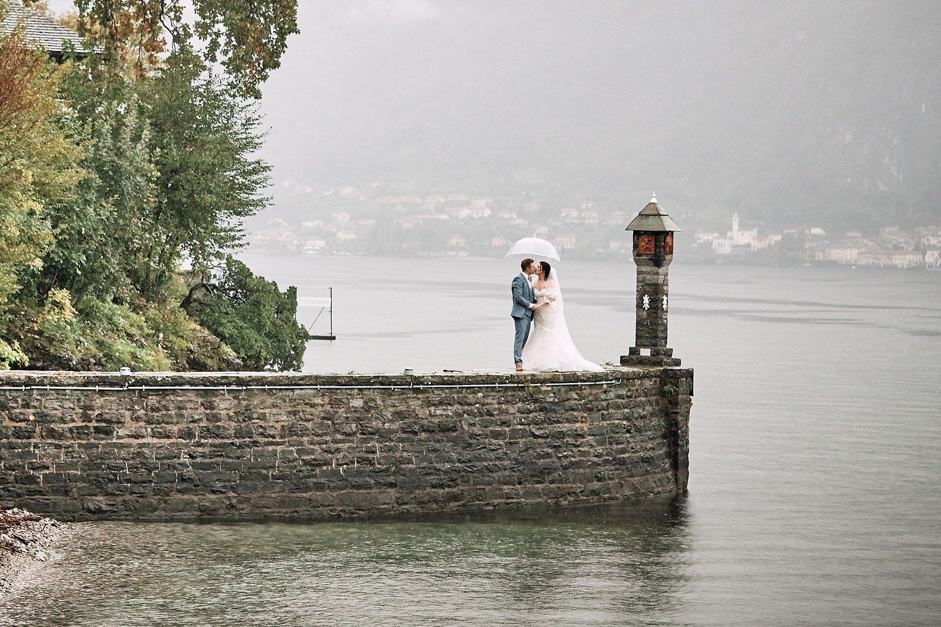 Lovely wedding under the rain